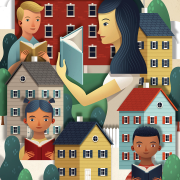 Reading together illustration