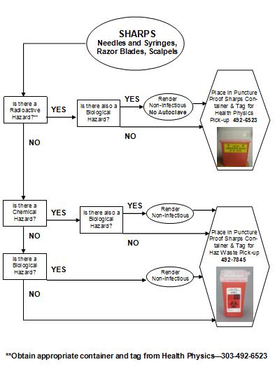 Sharps Segregation Requirements flow chart