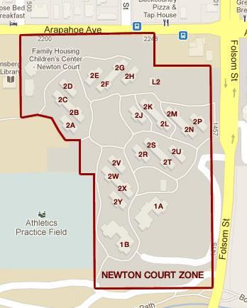 Newton Court map