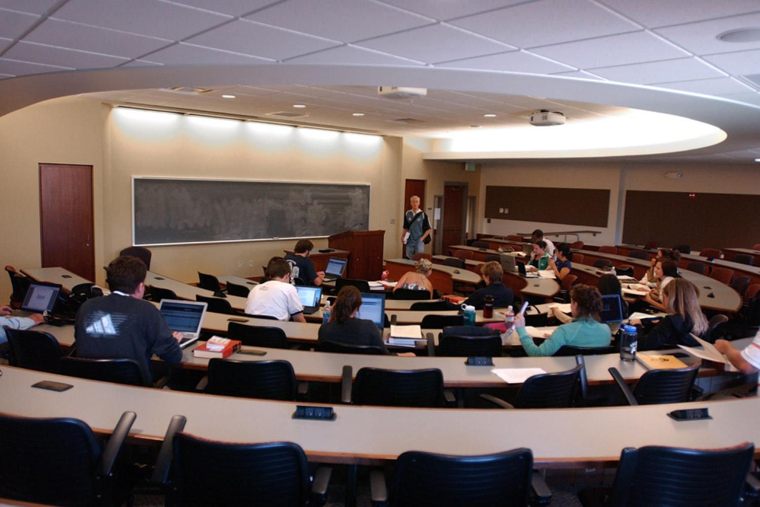 Classroom full of students at CU-Boulder