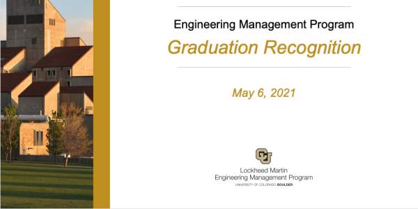 Engineering Management Program Recognition Ceremony cover
