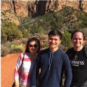 Chris Myers with his wife and son in Utah.