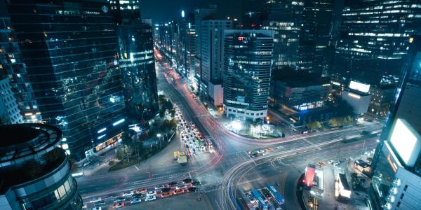 View of Seoul, South Korea from at night. Photo taken by Brayden Shelley.