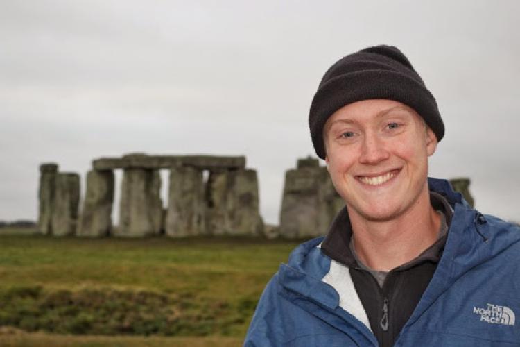 Spencer Miller visiting Stonehenge