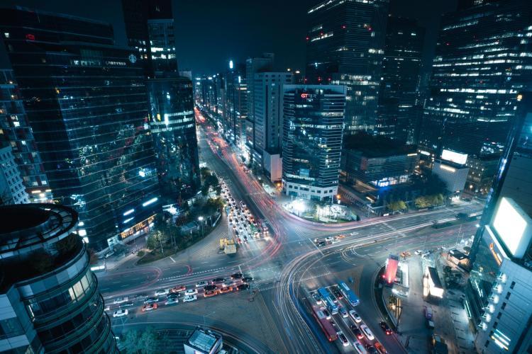 View of Seoul, South Korea from afar. Photo taken by Brayden Shelley.