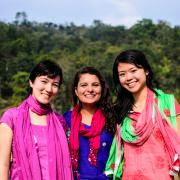 Erica Wiener and other students during her time with Engineers Without Borders