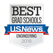 US News Best Grad Schools Engineering 2018 badge