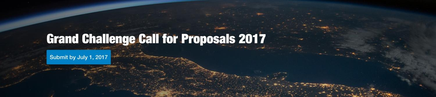Grand Challenge Call for Proposals 2017