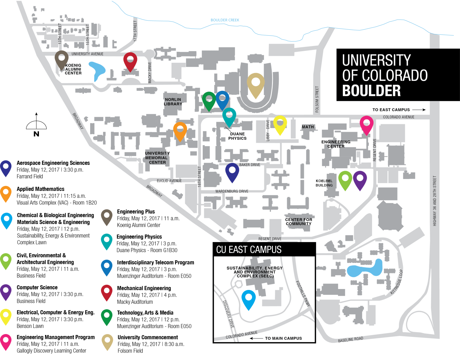 map of cu boulder campus. in tents cu engineering to graduate  students  college of