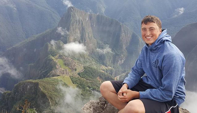 Austin Riley above Maccu Picchu