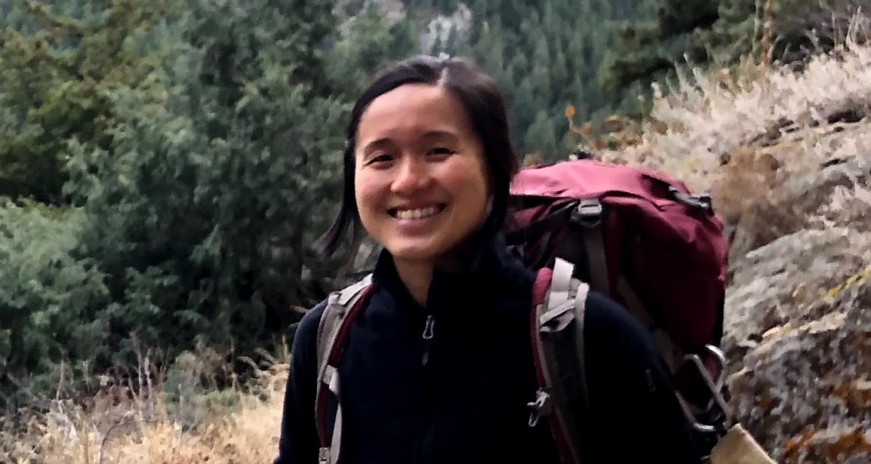 Darice Guittet on climbing excursion