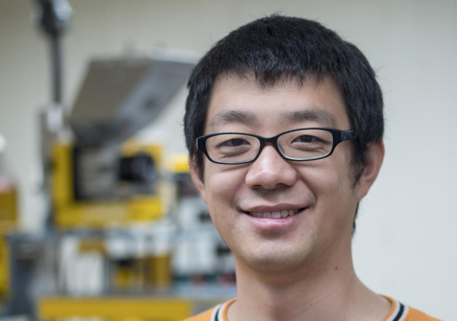 Yao Zhai in research lab