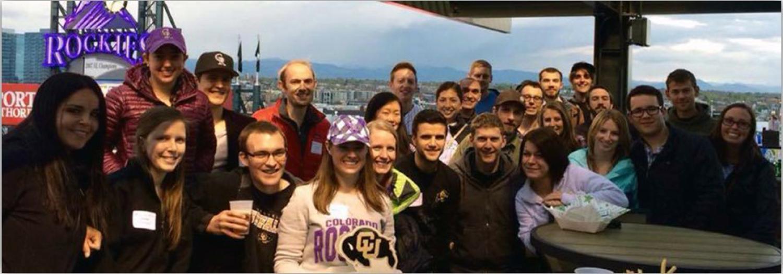 Alumni at Rockies game
