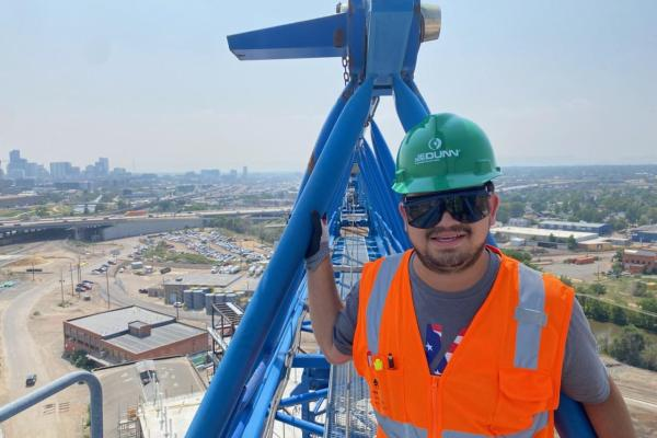 Giovanni Hernandez on a worksite