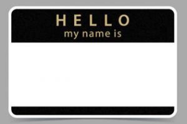 Name tag image