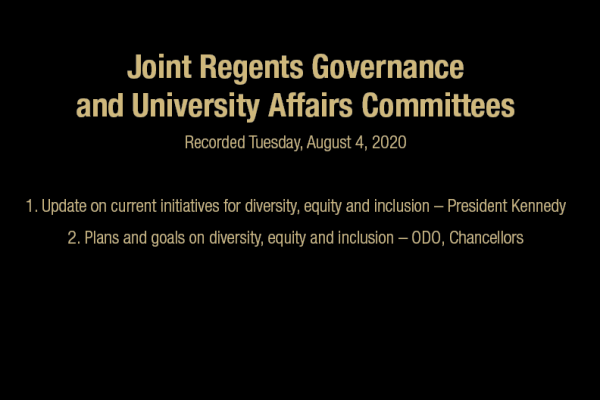 Joint Regents Governance & University Affairs Committees Meeting