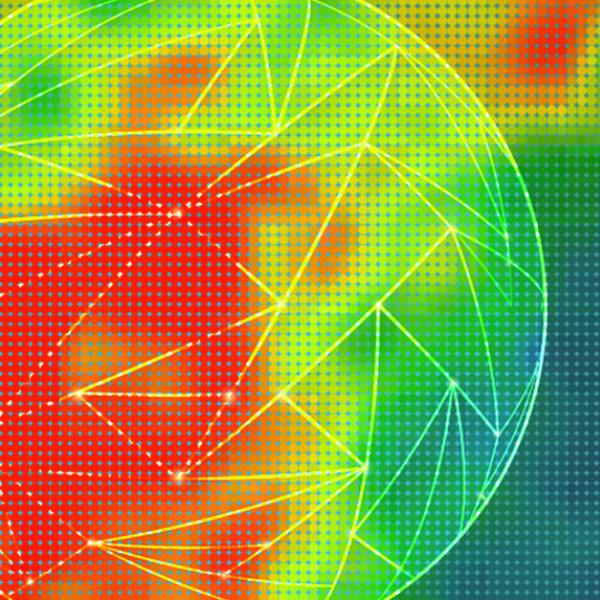 Abstract heat map illustration