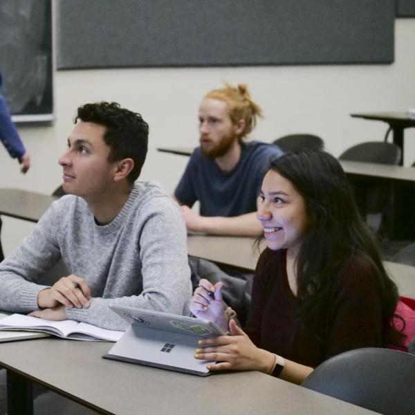 Engineering entrepreneurship minor students in classroom