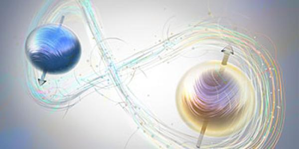 Artist's rendition of quantum entanglement.
