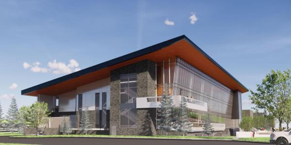 A rendering of the new engineering building on the Western State Colorado University