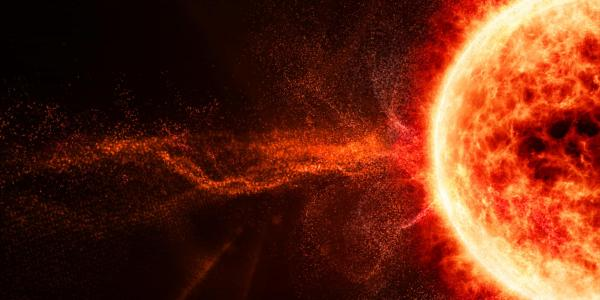 Solar flare from space