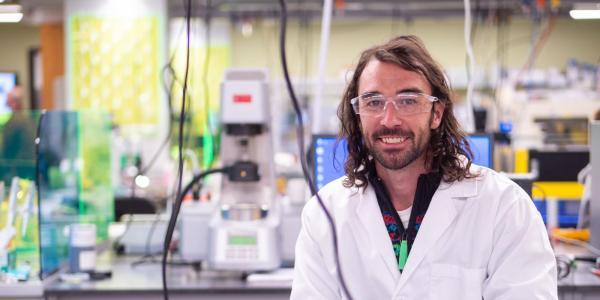 Carson Bruns in Engineering lab