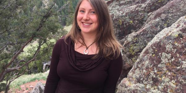 Ellen Considine in the mountains