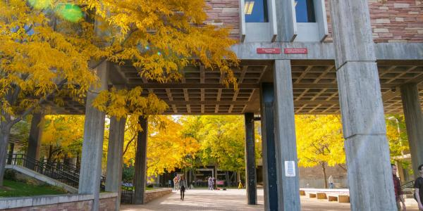 Herbst Plaza in the fall