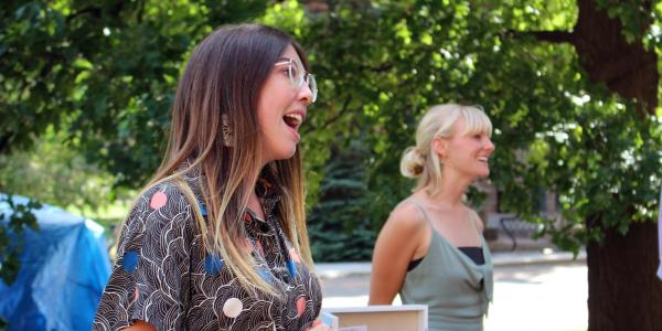 Marlee Durand, 2019 graduate of CU Boulder, with Julie Kinsella