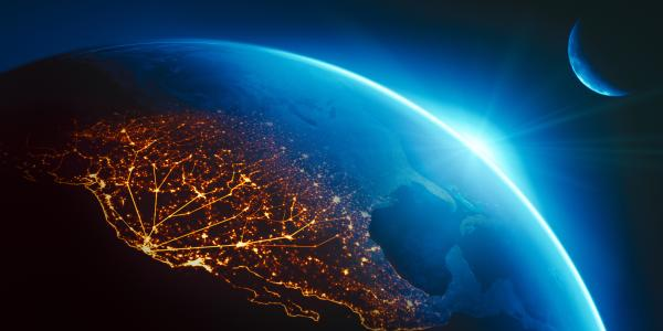 West Coast lights from space