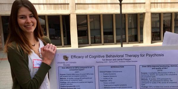 Jamie Finegan partnered with Dr. Roselinde Kaiser in the Department of Psychology and Neuroscience in Summer 2019 to research affective disorders and depression.