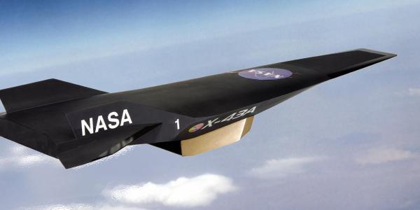 Hypersonic vehicle in flight
