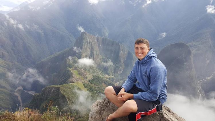 Austin Riley at Machu Piccu