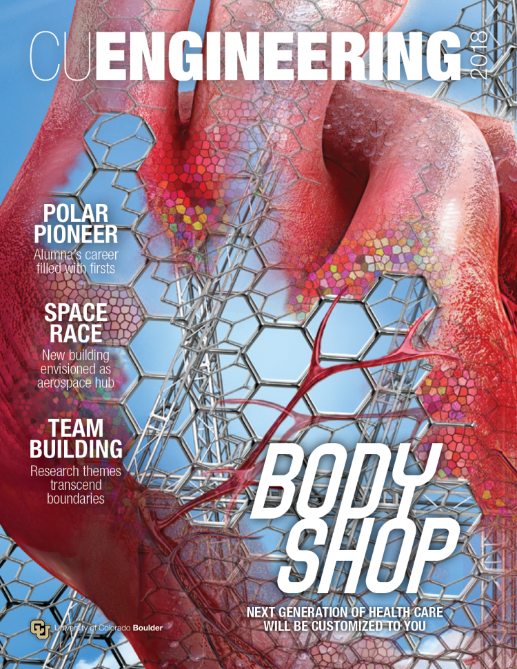 The cover of the 2018 CU Engineering magazine.