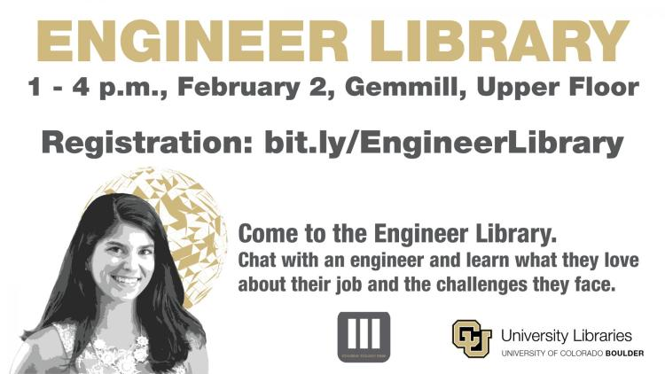 Engineer Library event flyer