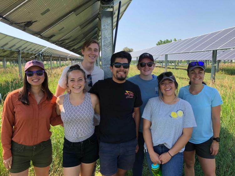 Students at solar farm in Longmont