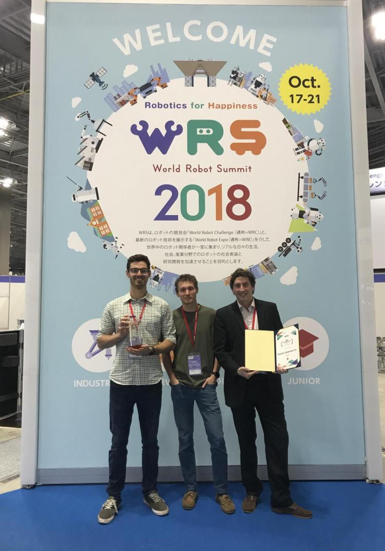 CU/Robotic Materials team with their award in Japan