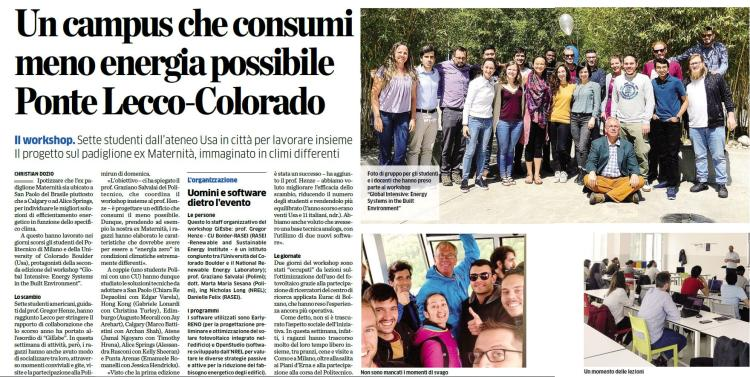 Italian paper features CU students