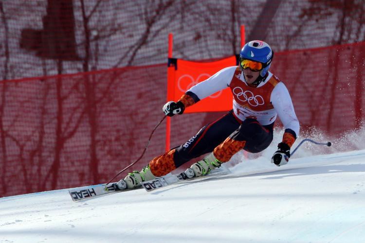 JT Abate skiing at Olympics.