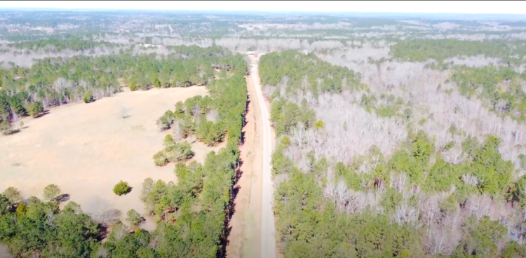 Land seen from overhead in Alabama for the project