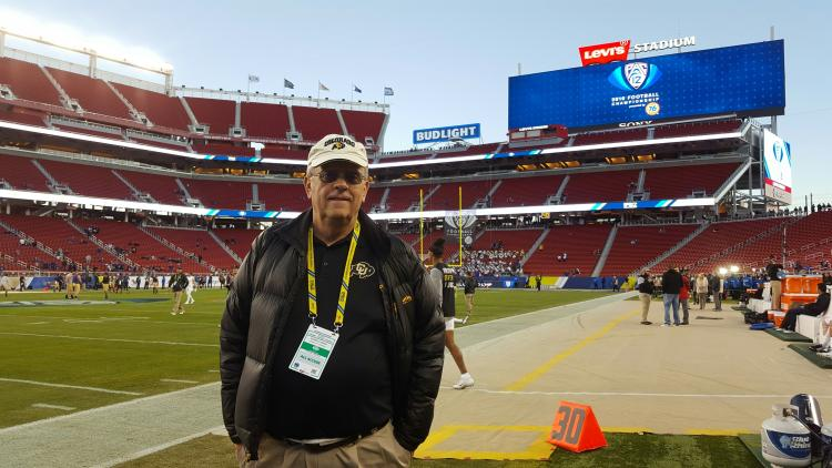 Dave Clough at Pac-12 championship game