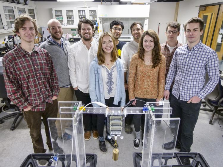 Keplinger research group in the lab