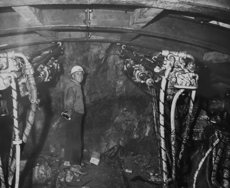 Joe Siccardi in the still-under-construction Johnson bore of the Eisenhower Johnson Tunnels.