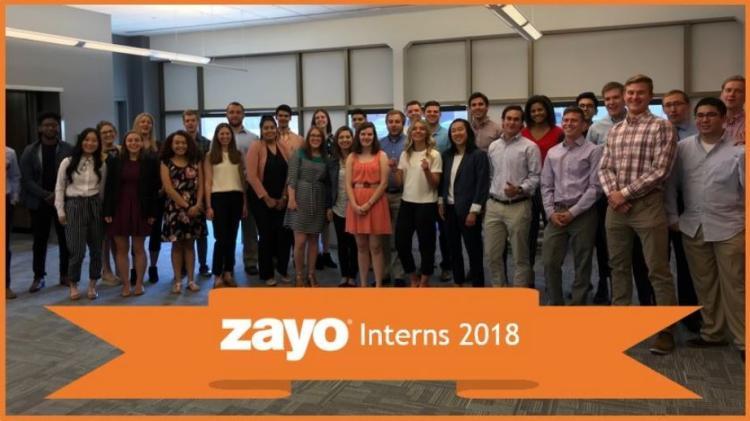 Zayo interns at office headquarters