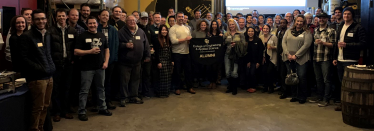 Group shot from Denver event at Ratio Beerworks