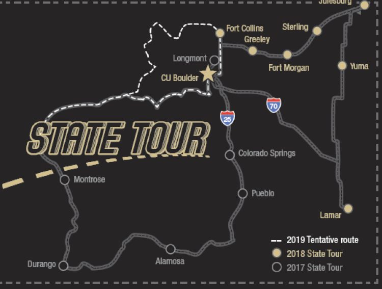 State Tour map