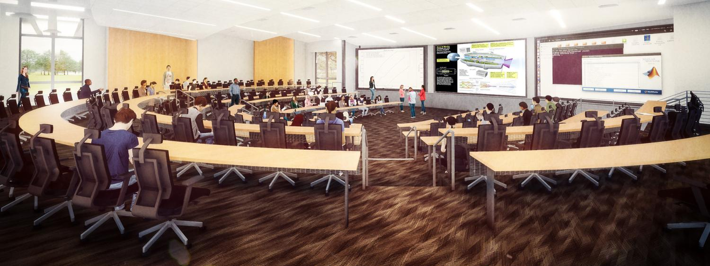 Aerospace 210-person classroom/auditorium