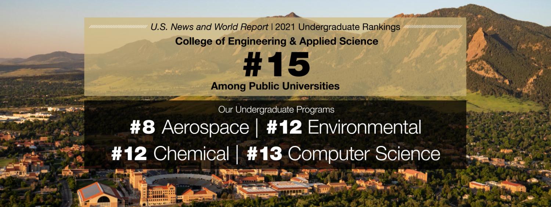 CU Engineering in public undergraduate program rankings