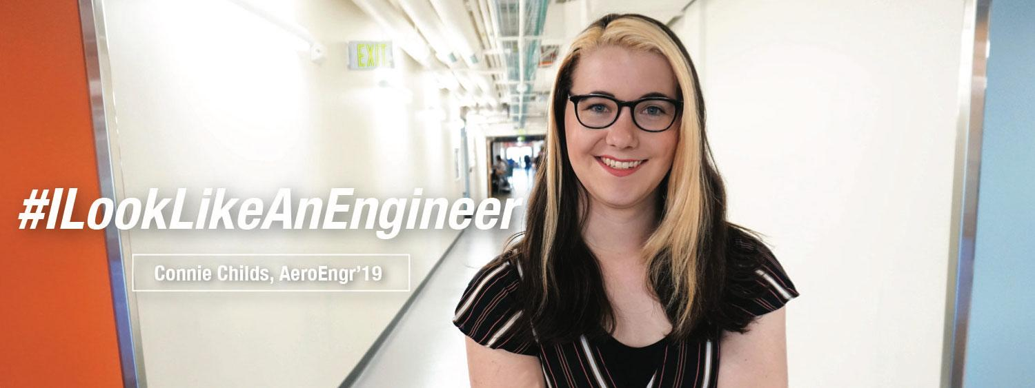 Aerospace Engineering Student, Connie Childs