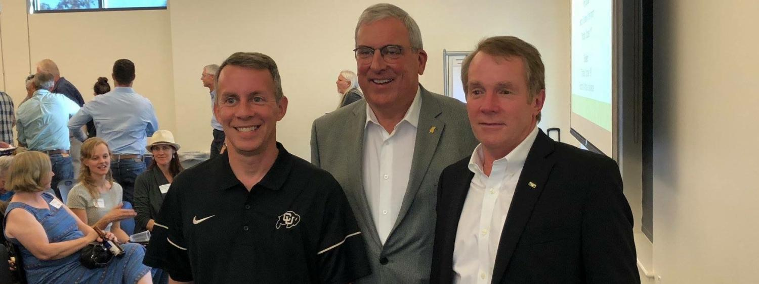 Bobby Braun, Mayor Wade Troxell & CSU Engineering Dean David McLean at Innosphere.
